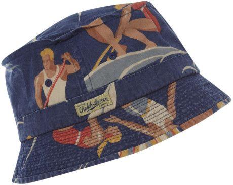 Polo Ralph Lauren Beach Scene Bucket Hat in Blue for Men (navy) - Lyst