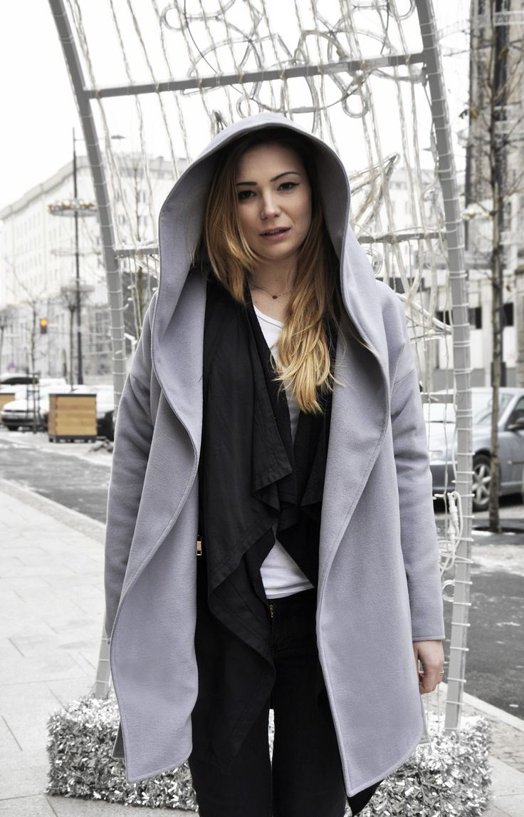 woman coat grey from backstage winter outfit