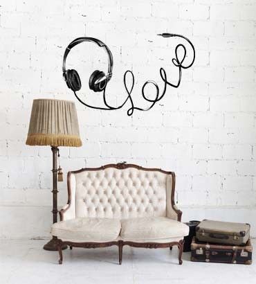 Streetwallz - Love Headset Wall Decal, $70.00 (http://www.streetwallz.com/love-headset-wall-decal/)