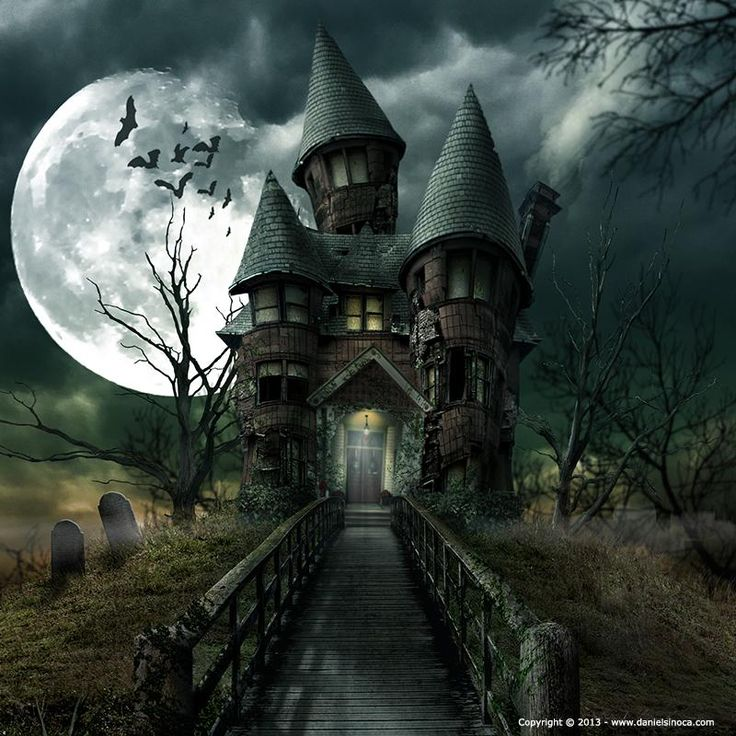 Spooky house google s gning halloween art pinterest for Pinterest haunted house