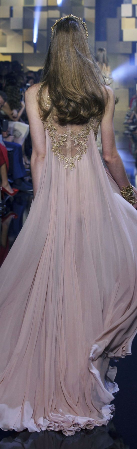 Elie Saab FW 2015 couture dress gown runway model fashion week