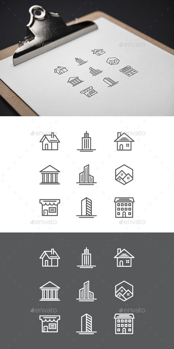 #Buildings #Icons - Buildings Objects Download here:  https://graphicriver.net/item/buildings-icons/19227902?ref=alena994