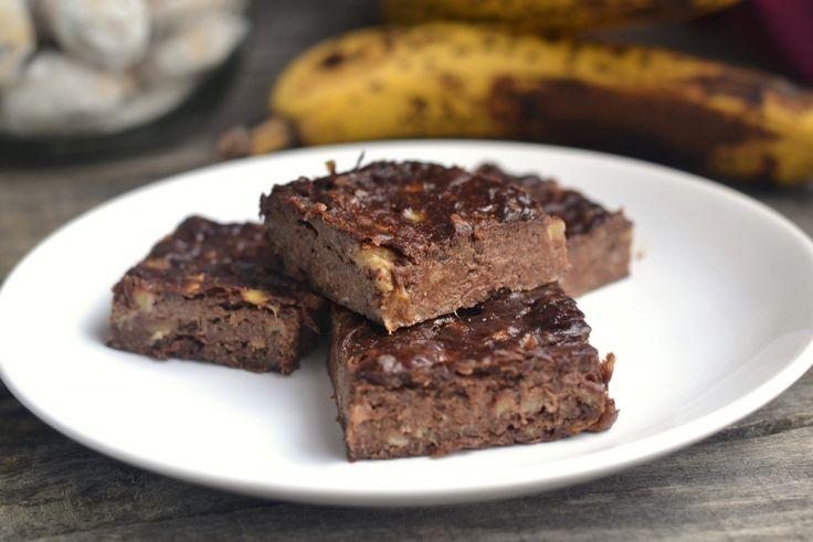 3 hozzávalós banános brownie - MINDENMENTES