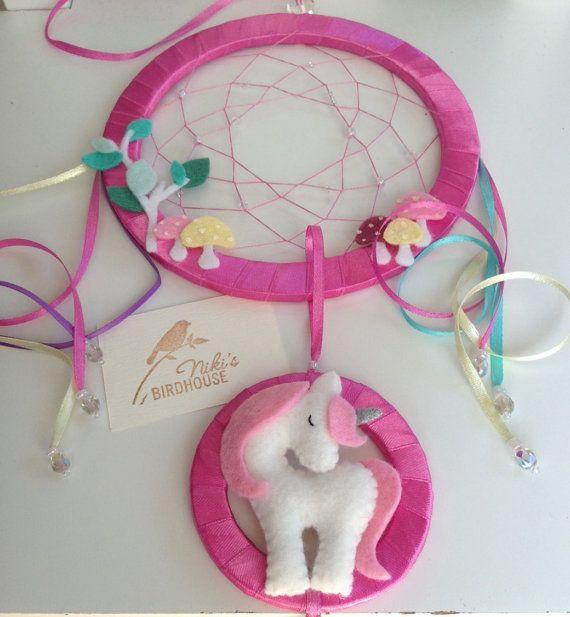 Atrapasueños unicornio para niños con guardería por NikisBirdhouse