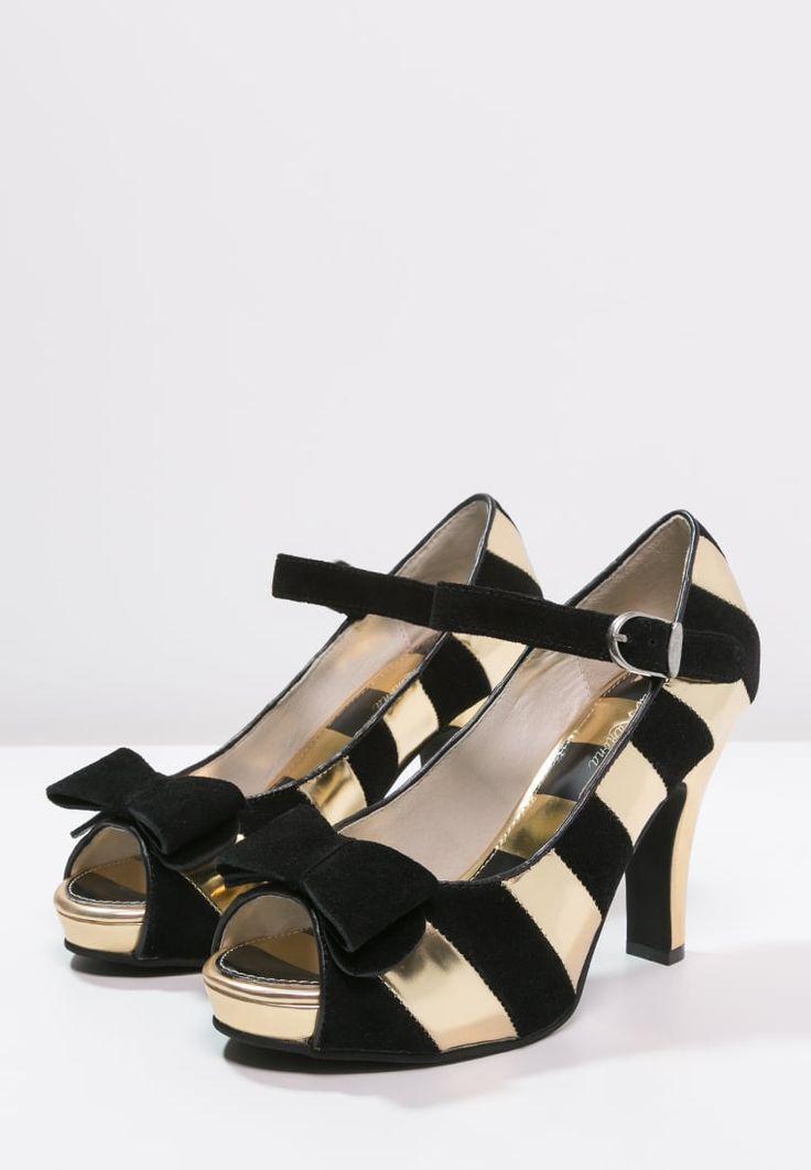 Lola Ramona ANGIE - Høye hæler med åpen front - gold/black - Zalando.no