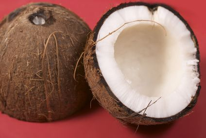 Our family loves to eat raw coconuts for a healthy snack: drinking the water with a straw before breaking open, then scooping out the meat and adding chocolate chips on top!