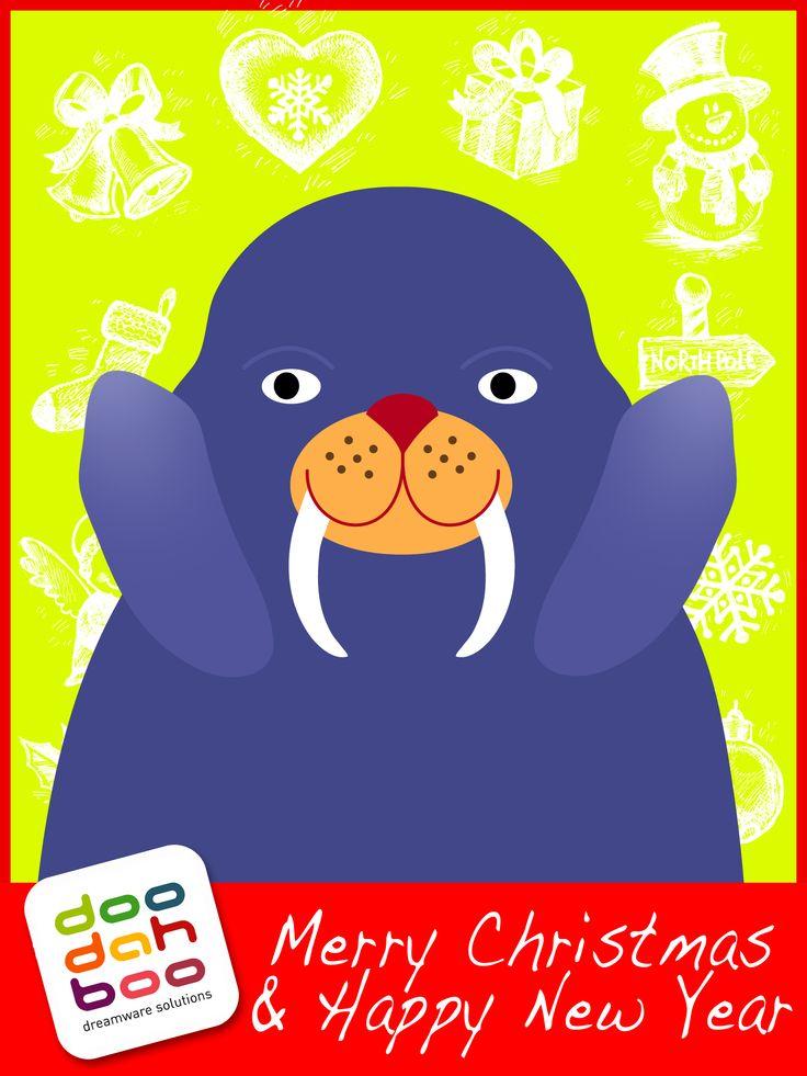 Walrus Christmas Greetings Card