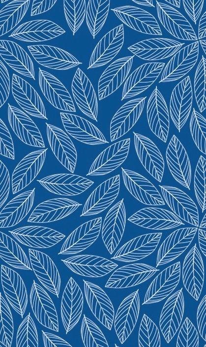 kasser til sort reol. blåt mønster m. blade