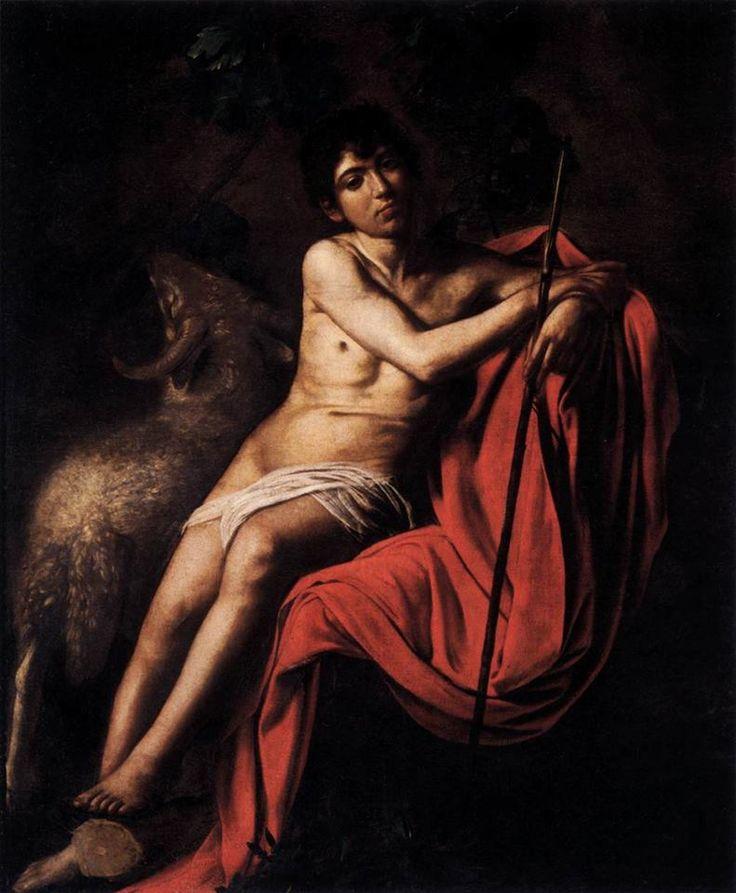 Caravaggio, San Giovanni Battista (1610, Galleria Borghese, Roma). La nostra puntata dedicata al grande artista: http://www.finestresullarte.info/Puntate/2010/10-caravaggio-michelangelo-merisi.php