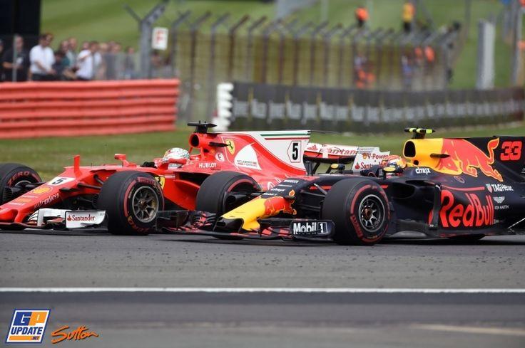Sebastian Vettel, Max Verstappen, Ferrari, Red Bull, Formule 1 Grand Prix van Groot-Brittannië 2017, Formule 1