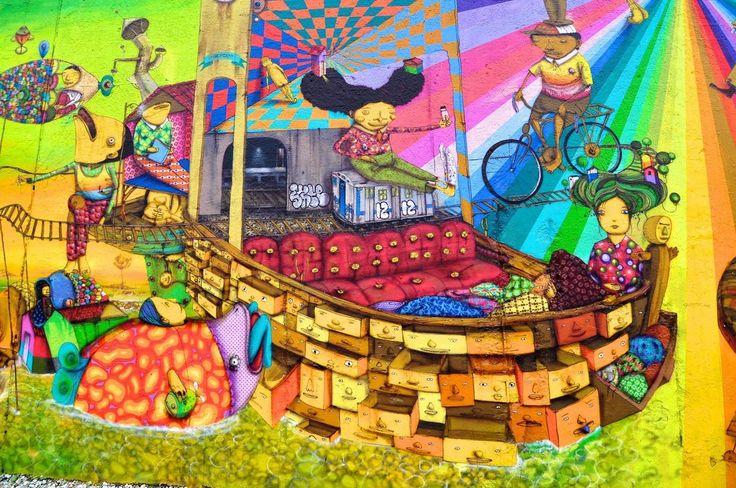 """Depois de muita expectativa, o Museu Casa do Pontal receberá a tão esperada instalação dos famosos grafiteiros """"OsGemeos no Museu do Pontal"""", em cartaz de 31 de janeiro a 1 de março, com entrada grátis"""