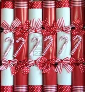 Christmas Crackers Background With Candy Cane. Royalty Free Stock ...