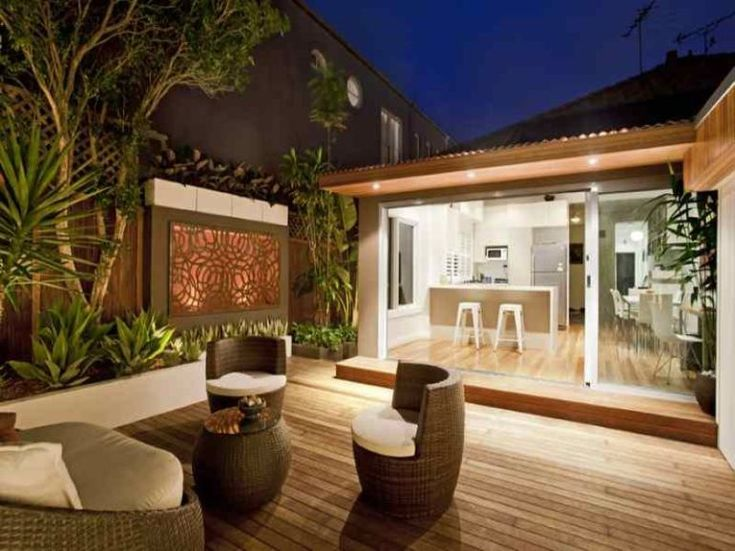 Outdoor Party Lighting Ideas | ... , Exterior Small Decking Ideas