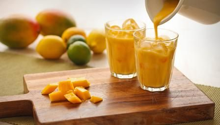 An Indian inspired mango smoothie