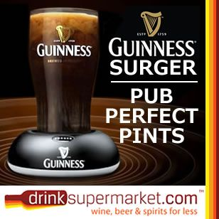 Love Guinness? Then don't settle for any old Guinness from a can when your at home. Get a Guinness surger unit and have perfect tap poured Guinness in the comfort of your own home. Buy any case of Guinness Surger Cans and get a Free Guinness Surger & 2 Toucan pint glassses.