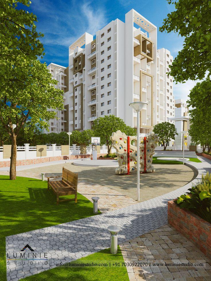 Amenity space #landscape #landscaping #landscapedesign #nightview #3d #architectural #architect #architecturaldesign #render #walkthrough #highrise #amenities  #luminie #studio
