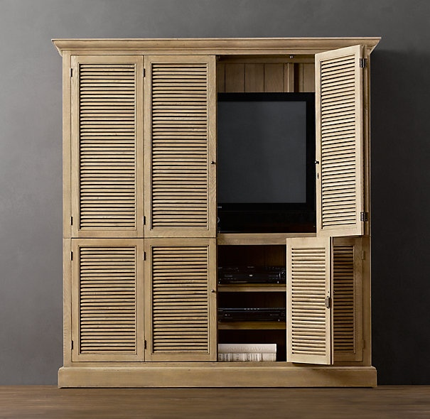 Media Storage. Like the bi-fold doors.  Could re-do an entertainment center.