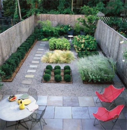 Charming Love The Butterfly Chairs, Staggered Patio Stones, Post Modern Style Garden  Boxes And