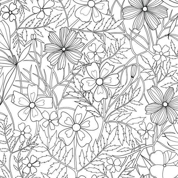Set Of 3 Gift Wrap Sheets Sketched Floral Marigold Black And