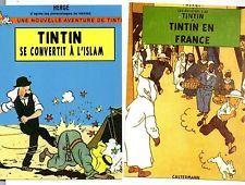 Carte Postale Tintin  : Lot de 2 cartes Identité Française. ODIF cartes neuves