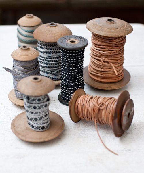Organize Trim + Ribbons On Spools