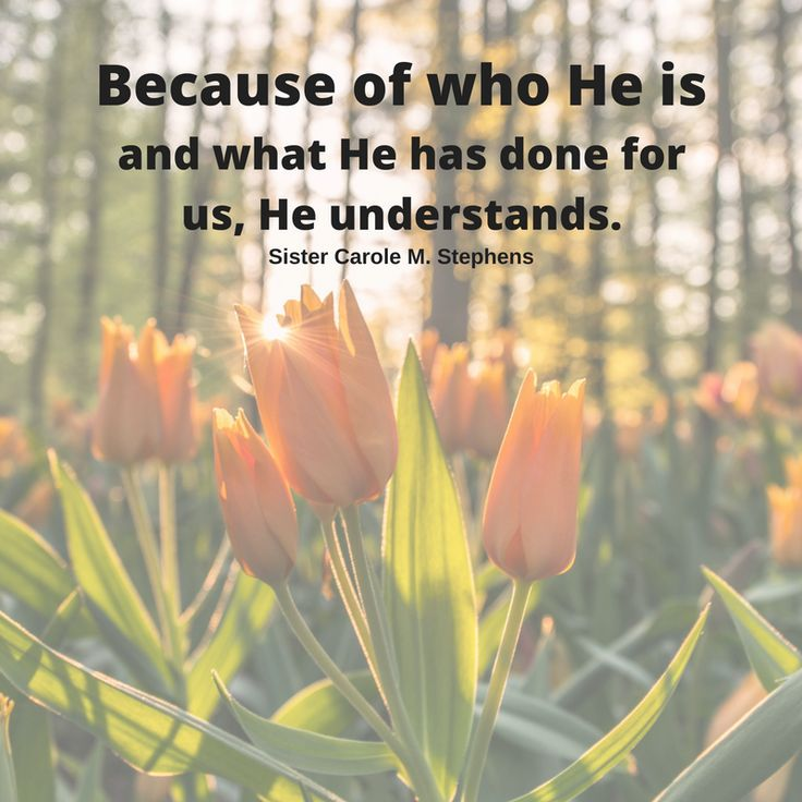"Sister Carole M. Stephens: ""Because of who He is and what He has done for us, He understands."" #LDS #LDSconf #quotes"