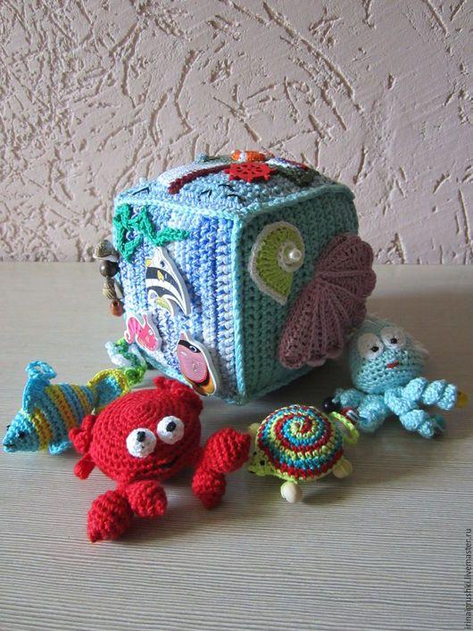 """Развивающие игрушки ручной работы. Ярмарка Мастеров - ручная работа. Купить Развивающий кубик """"Морской"""". Handmade. Комбинированный, развивайка, кораблик"""