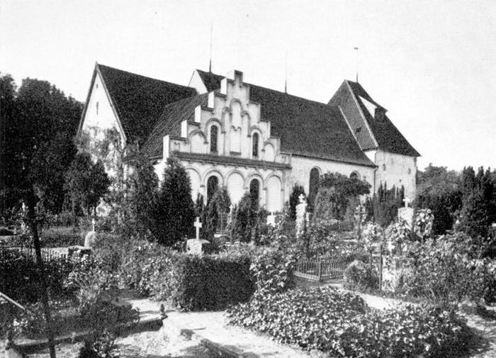 Gammel Haderslev kirke før 1912, ukendt fotograf