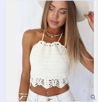 Knitted Crochet Bikini Cover Up  Beach  Bra Y09 One Size