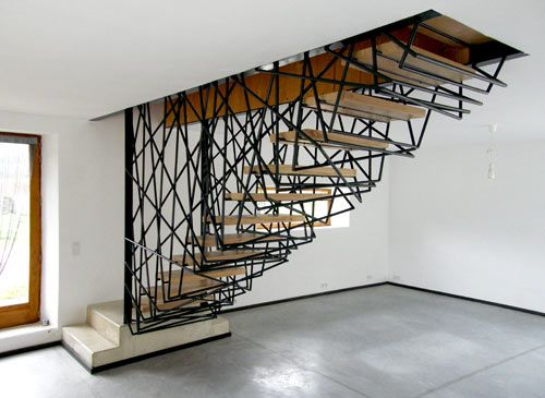 La Roche House in France by Archiplein: Birds Nests, Stairca Design, Interiors, Cool Stairs, Villas, House, Architecture, Stairs Design, Stairways