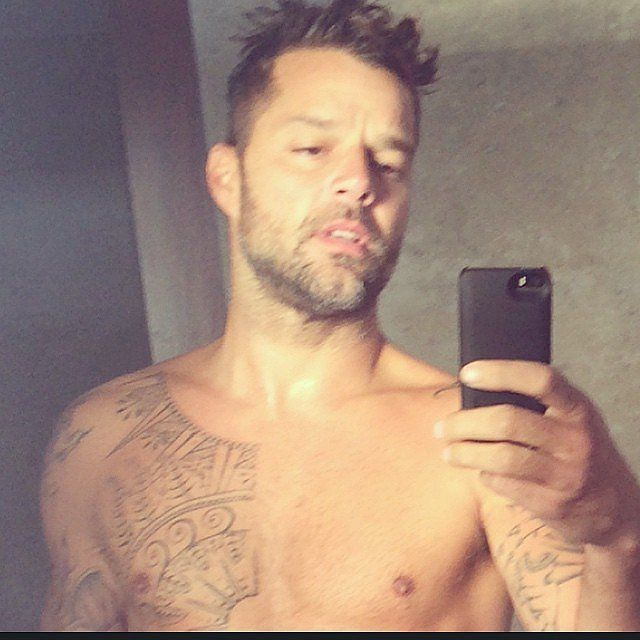 Let's be honest, you've probably had a crush on Ricky Martin for more years than you care to admit. Whether you fell in love with his sweet puppy eyes and flirty smile during his Menudo days or came to adore him when he taught us all how to live la vida loca, it's only natural for you to still have a place in your heart for the Puerto Rican singer. Well, we're here to tell you that special spot is about to grow, thanks to Ricky's insanely hot Instagram photos.