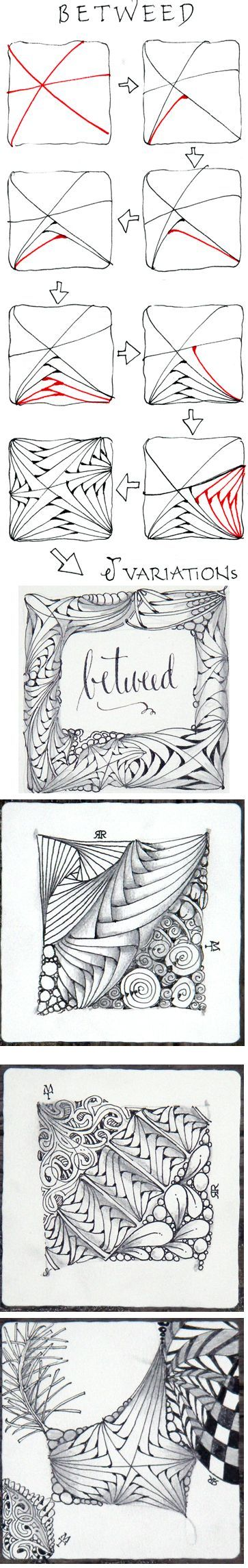 Betweed. Official Zentangle with variations.