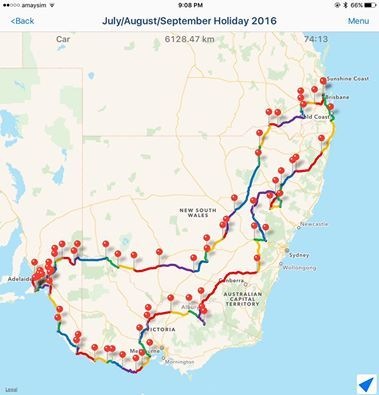 we are rapt to have our upcoming trip plotted out like this! The app is called Route Maker.