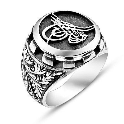 925 STERLING SILVER RING FOR MEN WITH OTTOMAN SULTAN'S ...