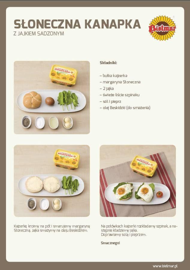 Słoneczna kanapka  #jajko #kajzerka #jajka #śniadanie