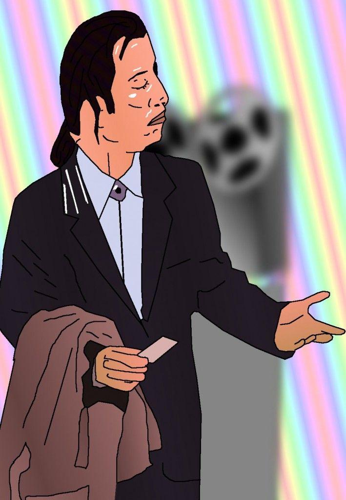Confused Travolta Caricature