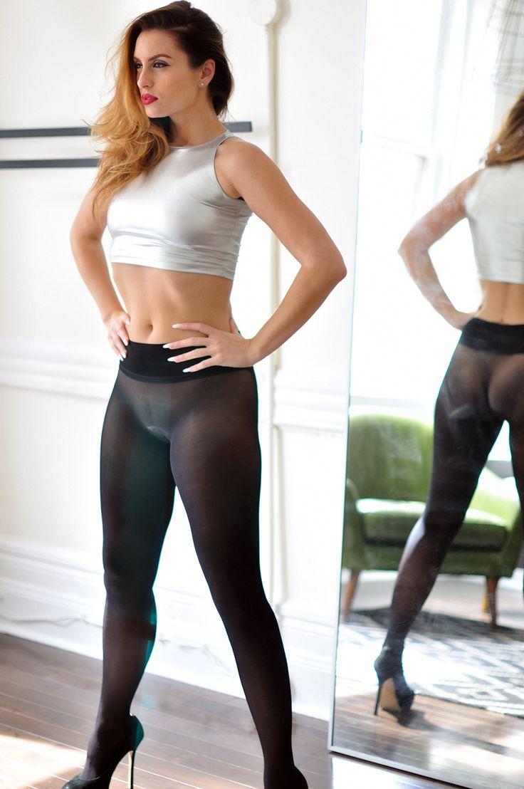 Girl wearing tight black panties — pic 13