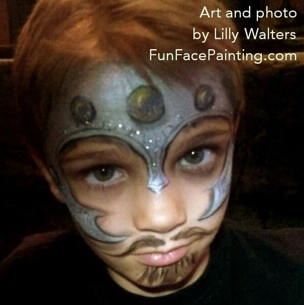 Easy Knight by Lily Walters | face painting