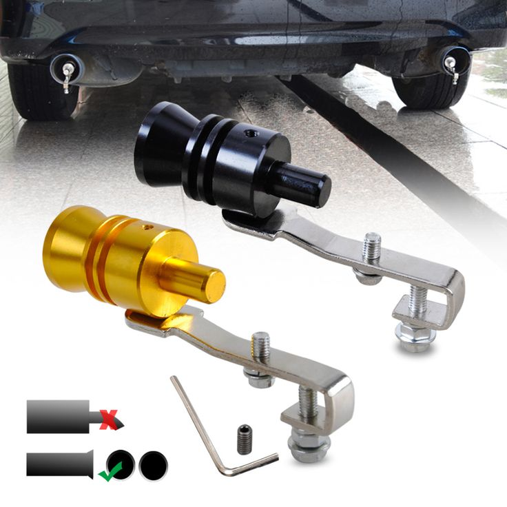 New Car Turbo Sound Whistle Muffler Exhaust Pipe Auto Blow-off Valve Simulator L for VW Polo Golf Audi A4 A6 Toyota RAV4 BMW