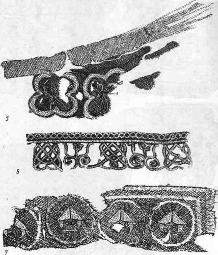 The medieval embroidery -  Slavic paganism - Symbols