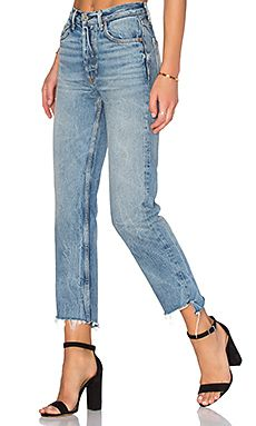 PETITE Helena High-Rise Straight Jean