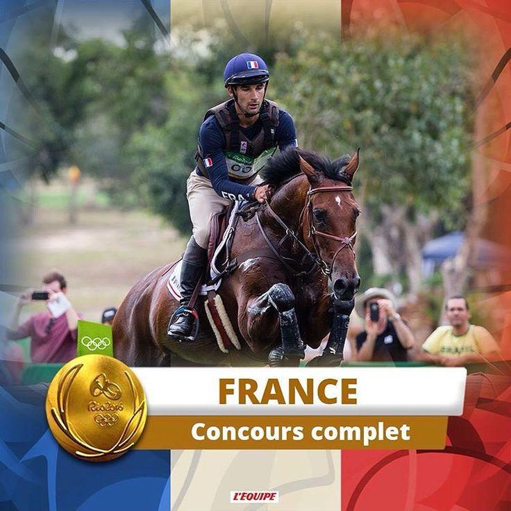 1ère médaille d'or aux jeux olympiques de rio  #equitation #jo #rio2016 #jeuxolympiques #france