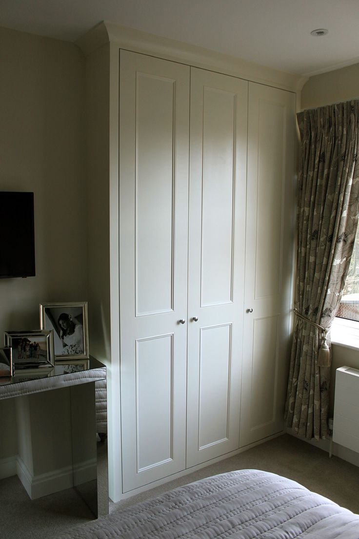 Shaker beaded wardrobes with coving