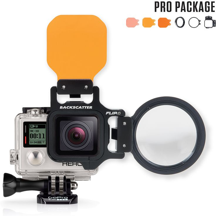 FLIP4 Pro Package with SHALLOW, DIVE & DEEP Filters & +15 MacroMate Mini Lens for GoPro Hero4, Hero3+, and Hero3. Fits on both the Standard GoPro Housing and the GoPro Dive Housing. Machined Aluminum Fumble-Free FLIP Design Perfect Underwater Color Includes Water Corrected +15 MacroMate One filter is not enough. We've made thousands of dives to determine the best filter …