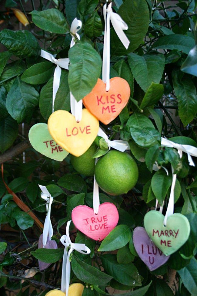 Salt Dough Conversation Hearts {Valentines Day Crafts}