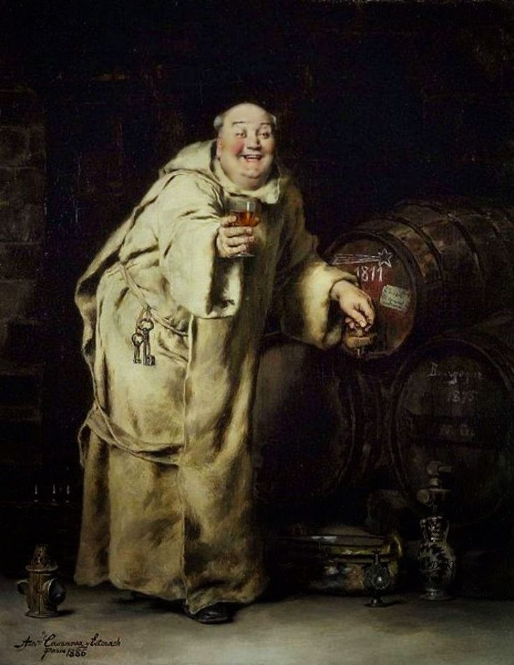 Μοναχός δοκιμάζει κρασί (1886)