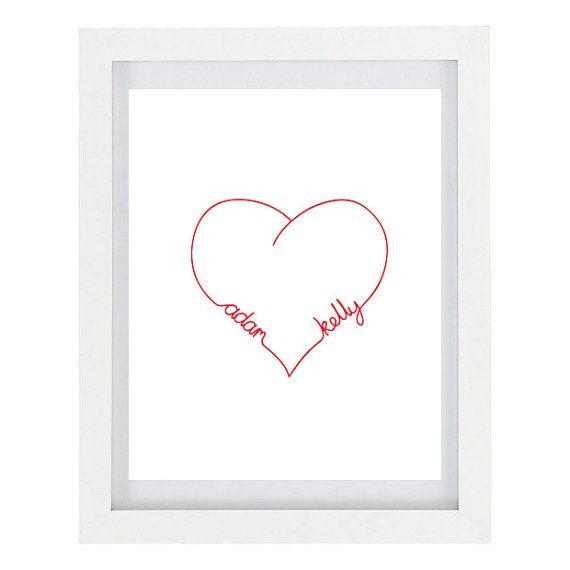 super simple to cross stitch I bet Love Heart Infinity Personalised Couples by ColourscapeStudios, $15.00