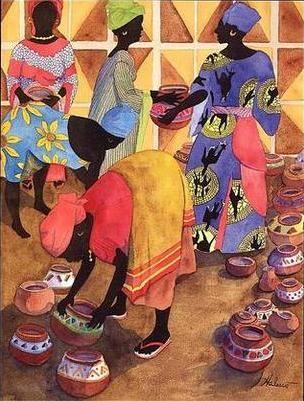 Mercado de África - Cuadro de Punto de Cruz de Mercado de África - PuntoyCruz.com