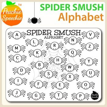 FREE Spider Smush Alphabet - What a fun activity to use when targeting letter/sound awareness!