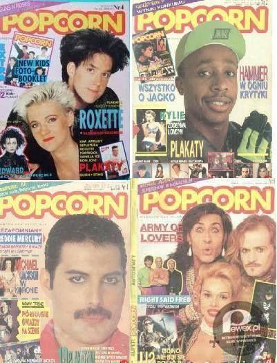Popcorn,Brawo i Dziewczyna! – Świeżo wytapetowany pokój, a ja oblepiłam plakatami cała ścianę! Tato o mały włos nie dostał zawału.